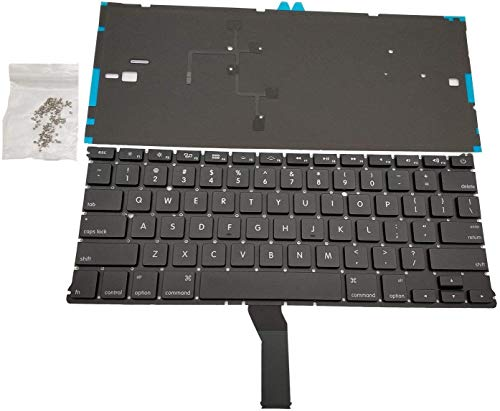 Replacement Backlit Keyboard Compatible with Mac Air 13 A1369 A1466 2011-2015 MJVE2LL/A MD760LL/A MC965LL/A MD231LL/A MJVG2LL/A Series with 100 PC Screws