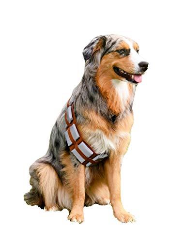 ComfyCamper Furry Star Warrior Utility Belt Dog Costume for Dog Halloween Costumes, X-Large