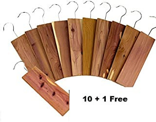 11 Pack Moth Protection Cedar Hang Up Closet Light Cedar Aroma Protection Large Size (9 x 2.6 x .4 Inches)