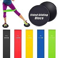Victoper Set de 5 Bandas para Yoga/Crossfit/Entrenamiento de Fuerza/Pilates/Fisioterapia Fitness Elásticas de Resistencia con Guía de Ejercicios