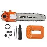 Walfront Chainsaw Head Kit de soporte de árbol de conversión de motosierra eléctrica 12in Protege al usuario de lesiones