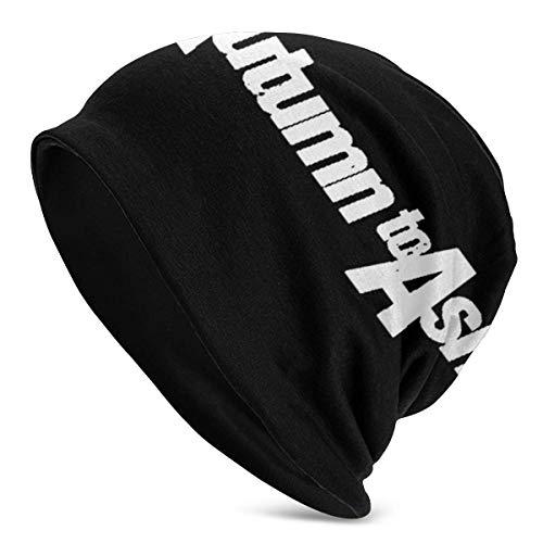 TYHYT Gorro cálido y suave para hombres adultos, de otoño a cenizas Sombrero de punto de diseño único para hombres y mujeres Negro