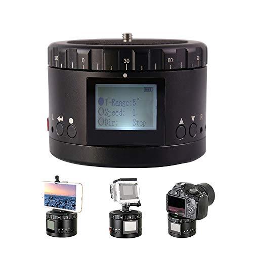 SHENGY Panorama-statiefkop, professionele statiefkop, 360 graden tijdgestuurde camera-rotator, LCD-instellingen, voor GoPro DSLR iPhone, gemotoriseerde panoramakop