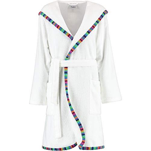 Michaelax-Fashion-Trade Cawö - Damen Bademantel mit Kapuze in Kurzform, Farbe Weiß (2147), Größe:32/34, Farbe:Weiß (600)