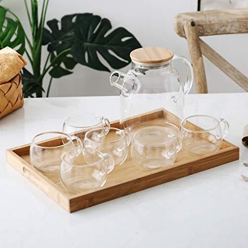 FEE-ZC Eoco Glass Kettle-Durable Bottle para cumpleaños, Fiesta de té, Bodas y Celebraciones de Fiesta-vajilla, Desayuno, té de la Tarde-8 Piezas