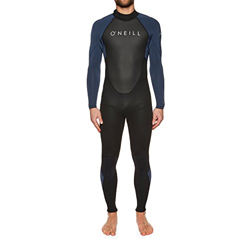 O'Neill 2018 Reactor II 3/2mm Back Zip Wetsuit Black/Slate 5040 Wetsuit Sizes - XXLarge