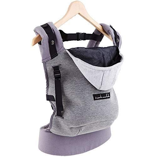 Je porte mon bebe - Love radius - hoodiecarrier coton - gris flanelle Hc43