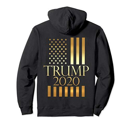 Epic Gold Trump 2020 Hoodie American Flag Patriotic Gift