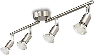 Depuley Lustre Cuisine, 4 Spots sur Rail LED, Luminaire Cuisine,Rail Luminaire, GU10 Douilles pour Cuisine, Salle à Mange...
