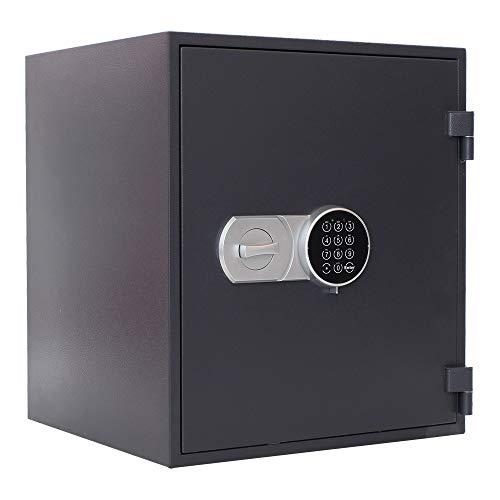 Profirst Versal Fire 55 brandwerende kluis EG FS60P, vuurvaste documentenkast, kluis met elektronisch slot, gecertificeerde meubelkluis incl. verankeringsmateriaal