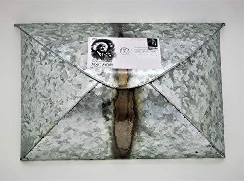 KUHEIGA Briefkasten Postkasten Briefbox Zink Metallbriefkasten