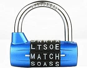 5 Letter Zinc Alloy Combination Padlock Code Password Lock Door Cabinet Drawer Bike Motorcycle Student Locker Locks (Type 1)