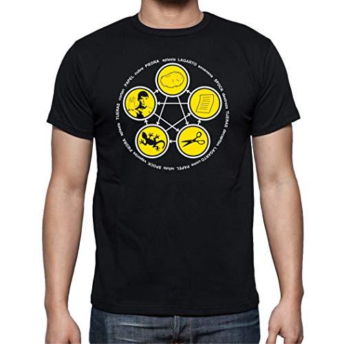 Camiseta de Hombre The Big Bang Theory Sheldon Bazinga Penny Leonard 015 L