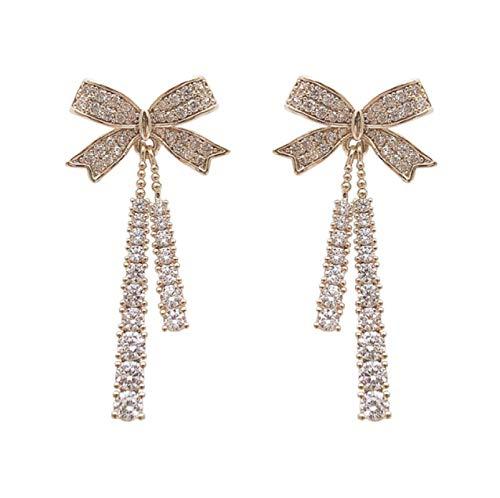Butterfly Tassel Pearl Stud Earrings,Long Chain Bow Tassel Dangle Drop Stud Earrings,Original Design Symbolizing Luck and Renewal Jewelry,for Women