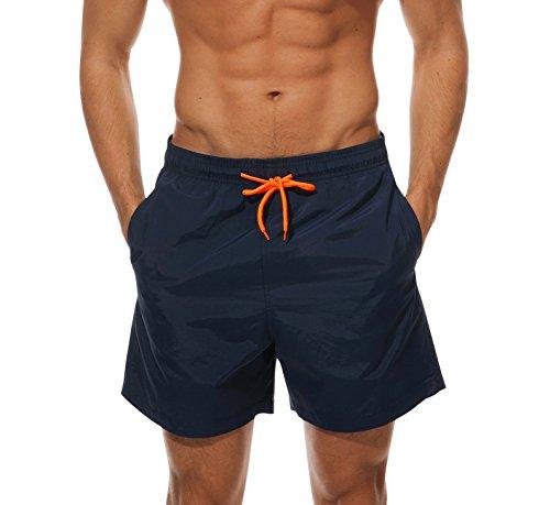 Cindeyar Herren Badeshorts Freizeit Kurze Badehose Schnell Trocknend Strandshorts Sommer Schwimmhose Beachshorts Bermuda Shorts (Marineblau, L)