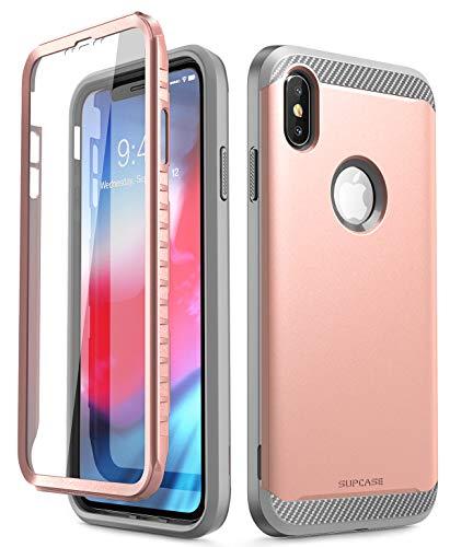 iPhoneXsMaxCase,SUPCASEUBNeoSeriesCapacapinhaprotetoradecorpointeiroparaiPhoneXsMaxde6,5polegadas2018,comprotetordetelaembutido,Capadearmaduradeduplacamada(Rosaouro)
