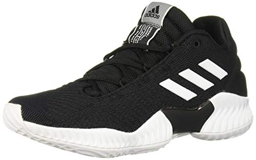 adidas Men's Pro Bounce 2018 Low Basketball Shoe, Black/White/Black, 10.5 M US