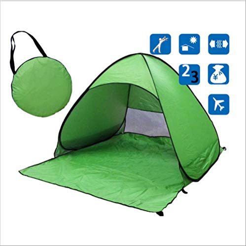 DYGZS tent Beach Tent Ultralight Folding Tent Pop Up Automatic Open Tent Family Tourist Fish Camping Anti-uv Fully Sun Shade China Green