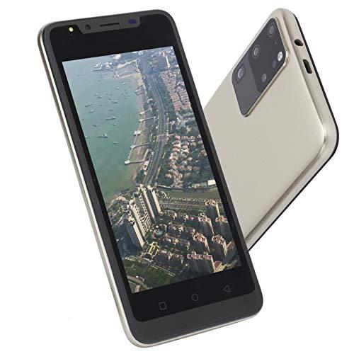 EBTOOLS1 Teléfono móvil con Pantalla de 5.0 Pulgadas, teléfono móvil con reconocimiento Facial, teléfono Inteligente con desbloqueo de Huellas Dactilares, teléfono móvil con Pantalla Completa HD(Oro)