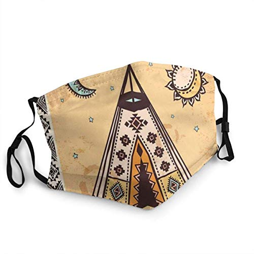 Comfortable COV-ER,Ethnic Tent With Ancient Symbols Cultural Unique Bohemian Free Spirit Design,Printed Facial decorations