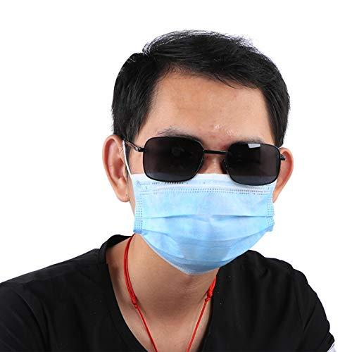 DAUERHAFT Cambiar Gafas de protección de Color, para Proteger los Ojos(Black Frame Gray Piece)