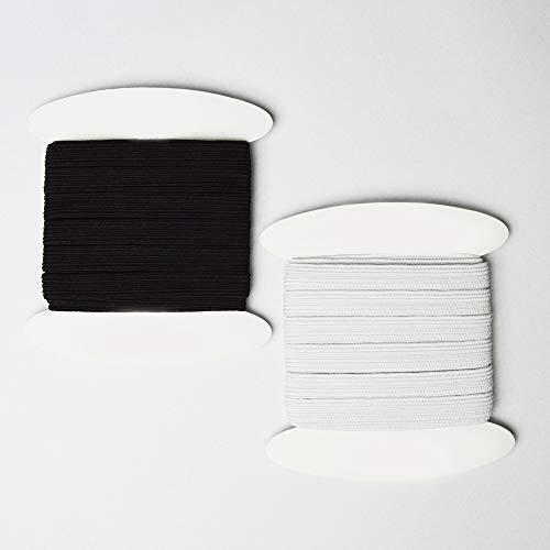 designers-factory Par 5 m/ètres Ribete de sat/én Negro Ribete Negro Ribete de Costura mercer/ía Negro