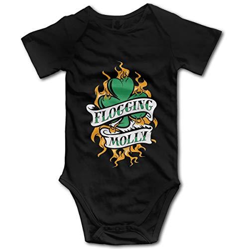 YI-POP Stylemall Unisex Baby Short Sleeve Onesies Bodysuits Celtic Punk Band Flogging Molly Baby Onesies Bodysuits Kids' Romper Bodysuit Cotton T Shirts 18 Months Black