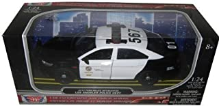 Motormax 2013 Ford Police Interceptor LAPD Los Angeles Police Department Car 1/24 76948