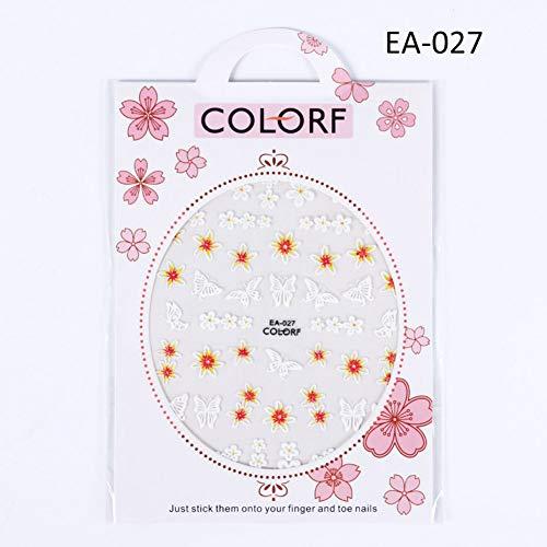 N-A 1 Feuille 5D Creux Autocollants pour Les Ongles en Relief Fleurs Papillon Transfert décalcomanies Acrylique gravé Dessins manucure
