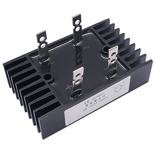 Taiss / 100A Amp 1200V Heatsink Shape Single Phase Diode Bridge Rectifier Metal QL100A