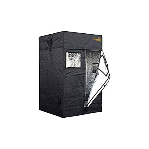 Gorilla Grow Tent Lite Line | Complete 4-Foot by 4-Foot Reflective Hydroponic Grow Tent for Growing Indoor Plants | Steel Interlocking Poles, Windows, Floor Tray