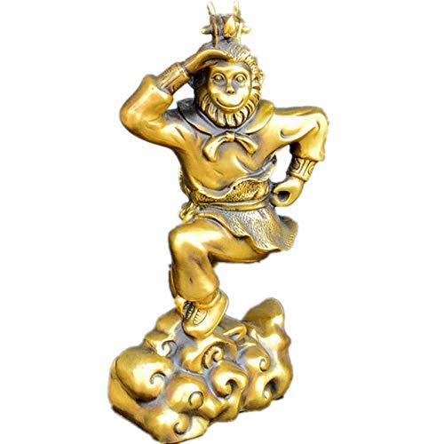 ZAQWSXCDE Escultura De La Suerte Figura Escultura Decorativa Estatua De La Escultura Mono Animal De Latón Decoración Artesanía Creativa para El Hogar