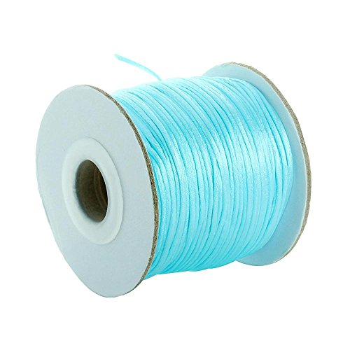 Why Choose Amazing DIY Ideas for Bracelet Necklace Jewelry Making with Sky Blue Nylon Cord Satin Rat...