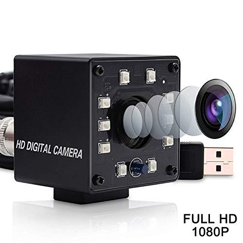 Svpro 1080P OV2710 CCTV Cámara de Vigilancia para Webcam Mini Infrarrojo Visión Nocturna USB Webcam HD 2 Megapixel con IR Cut y Junta de 10 Piezas