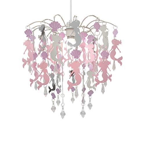 Kinder Meerjungfrau Flamingo Feen Schlafzimmer Kronleuchter Schlafzimmer Lampenschirm für Mädchen Kinderzimmer Dekoration (Meerjungfrau)
