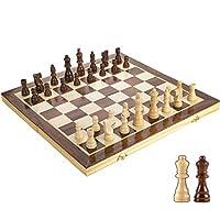 折りたたみ式標準チェスゲームボードセットクラシックチェスセット磁気木製チェスセット折りたたみ式ボード手作りポータブルトラベルチェスボードゲームセットトラベル