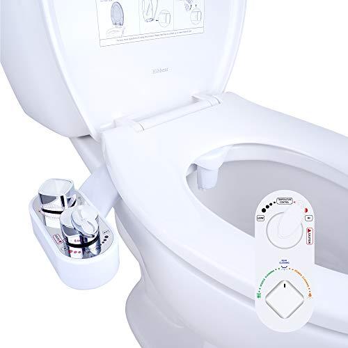 Hibbent WC Bidet, Cold/Heiß Water Bidet Dusch-WC (ohne Strom),Intimreinigung mit Selbstreinigende Düsen Wasserstrahl regulierbar Po Dusche und Lady-Dusche