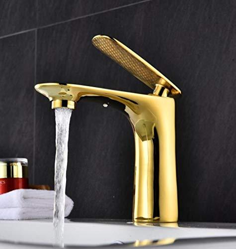 Grifería para lavabo de latón blanco con pintura fría y caliente grifo 6 colores oro,JHQNCPOMTIZI1