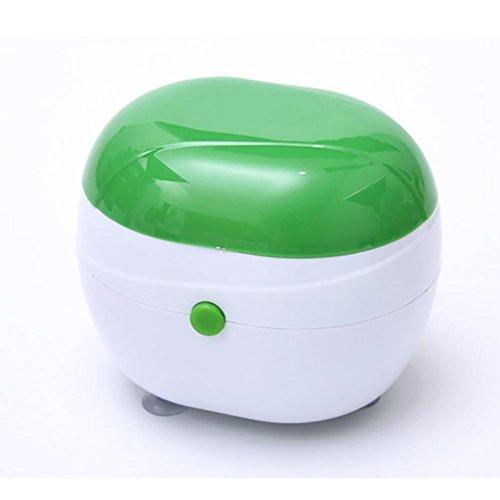 BVC Limpiador Ultrasónico Lavadora por Ultrasonido Pequeño, Limpia Todo Tipo de Joyas Pequeñas(10.1 * 9.2 cm), Green