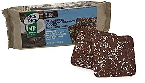 Probios Quadrette Cioccolato Fondente e Cocco - 90 gr, Senza glutine