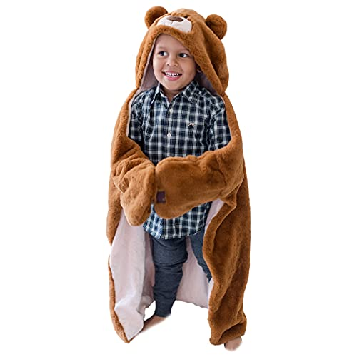 Animal Adventure | Wild for Style | 2-in-1 Transformable Character Cape & Plush Pal | Bear