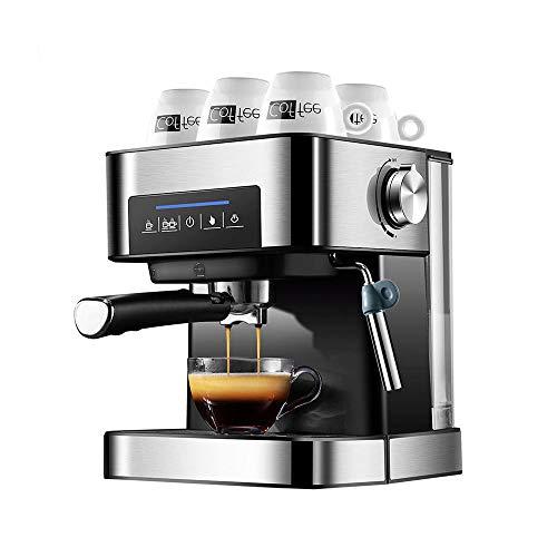 Espresso Machine, 20 Bar hydrofoorpomp, koffiezetapparaat met melkopschuimer voor Latte, cappuccino, Americano, 304 roestvrij staal, gemakkelijk schoon te maken