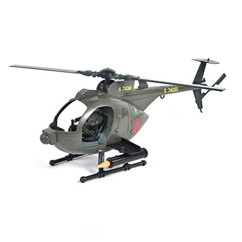 Sunny Days Entertainment Elite Force Army Strike MH-6 Spec Ops Little Bird Toy Helicopter with Motorcycle & Premium Action Figure (904334)