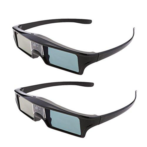 Gazechimp 2X HD 144Hz Rechargeable Active Shutter 3D Glasses for DLP Link Projector