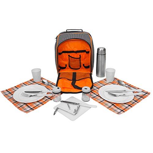 Inspirion Picknick Rucksack inkl. Geschirr für 2 Personen - Art. 600309