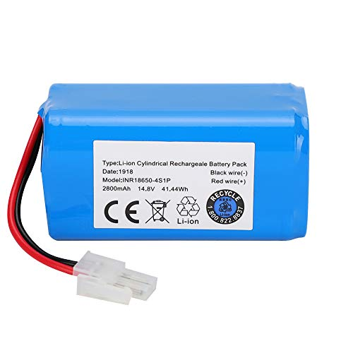 SOONHUA Batería de litio de repuesto para aspiradora Ilife A4, A4S, A6, V7, 14,8 V, 2800 mAh.