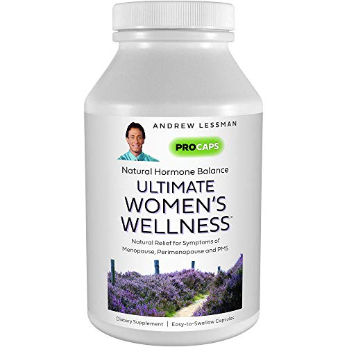Andrew Lessman Ultimate Women's Wellness 360 Capsules – Naturally Relieves Menopause Symptoms, PMS & Perimenopause, with Soy Isoflavones, EGCG, Cranberry, Indole-3-Carbinol. Easy to Swallow Capsules