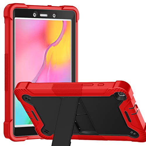 "YCXBOX Samsung Galaxy Tab A 8.0 2019 Case, Model SM-T290/T295, Heavy Duty Rugged Full-Body Hybrid Shockproof Drop Protection Cover with Kickstand for Samsung Galaxy Tab A 8.0"" 2019 Release"