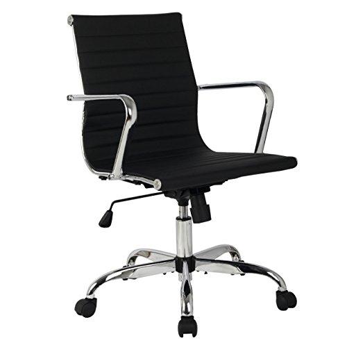 Modern Design Mid Back Office Ergonomic Chair Executive Comfortable Computer Desk 360 Degree Swivel New #670