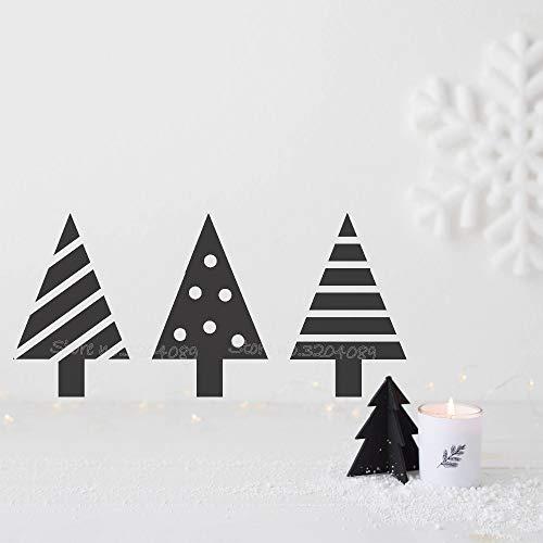 TYLPK Mini Weihnachtsbäume Wandaufkleber Steuern Dekor Weihnachten Nordic wohnzimmer schlafzimmer Vinyl Wasserdichte tapete Autocollant wandbild EA772 56x28 cm
